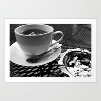 cafe Art Prints featuring cafe by Emily Baker Photography and Design