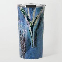 Abstract Nature Collage Drawing Travel Mug