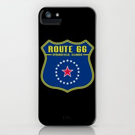 Route 66 Springfield iPhone Case