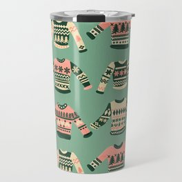 Christmas Sweaters – Vintage Blush Mint Palette Travel Mug