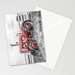 Selective Red Vintage Farmall A Antique Red Tractor Farming Nostalgia Farm Equipment  Stationery Cards