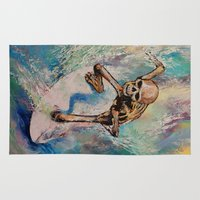 surfer Area & Throw Rugs featuring Surfer by Michael Creese