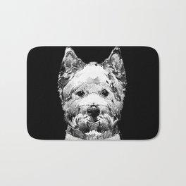Black And White West Highland Terrier Dog Art Sharon Cummings Bath Mat