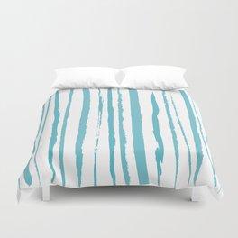blue streaky pattern Duvet Cover