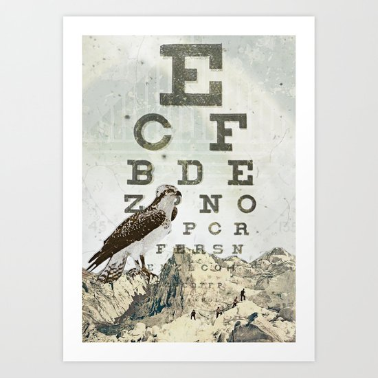 eye chart II Art Print