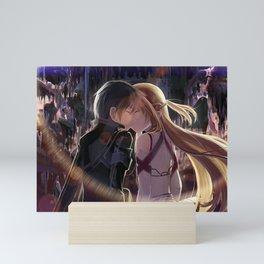 Kirito and Asuna Mini Art Print