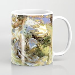The Chess Game by John Singer Sargent - Vintage Fine Art Oil Painting Coffee Mug