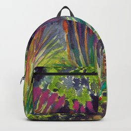Colors in botanical garden, Seattle Backpack