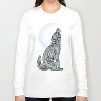 lunar Long Sleeve T-shirts featuring Lunar by MacGreen