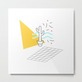 Cactus and confetti Metal Print