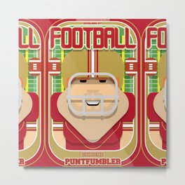 American Football Red and Gold - Enzone Puntfumbler - Josh version Metal Print