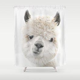 PEEKY ALPACA Shower Curtain