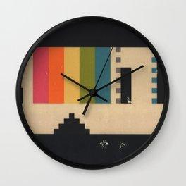 VHS Pixels Wall Clock