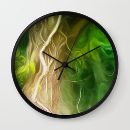 Dream Light Green Tree Wall Clock