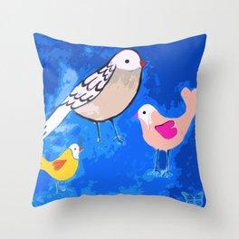 Pajaritos 2 (Birds 2) Throw Pillow