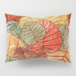 Leaves in Rosy Background 4 Pillow Sham
