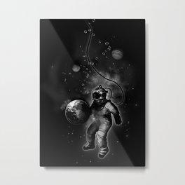 Deep Sea Space Diver Metal Print