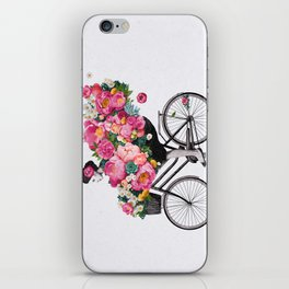 floral bicycle  iPhone Skin