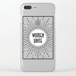 Women Unite Clear iPhone Case