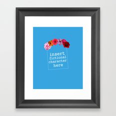 Flower Crowns are All Around Framed Art Print