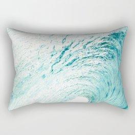 ocean wave curl, coastal print, surf, beach waves, beautiful beac Rectangular Pillow