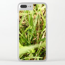 Grass In Morning Dew Clear iPhone Case