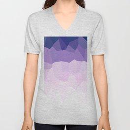Purple Watercolor Crystals Unisex V-Neck