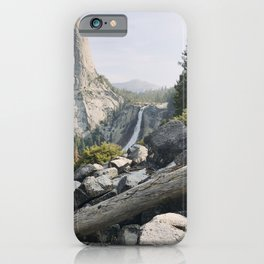 Liberty Cap and Nevada Falls in Morning Light iPhone Case