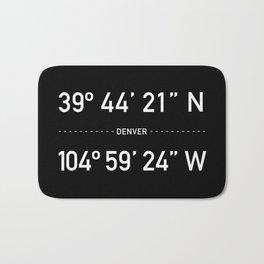 Denver Coordinates Bath Mat