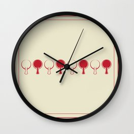All In A Line Wall Clock