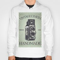 vintage camera Hoodies featuring Camera Vintage by Ale Ibanez