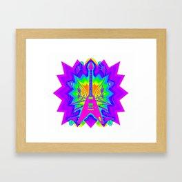 Colorful Guitar Artwork Framed Art Print