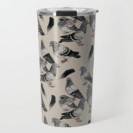 Pigeon Pattern Travel Mug