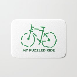 My puzzled ride Bath Mat