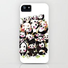 Wild Family Series - Afternoon Tea Panda iPhone Case