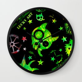 Lucky goes pop n°3 Wall Clock