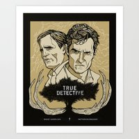true detective Art Prints featuring True Detective by David Fung