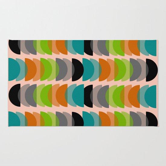 Mid Century Modern Geometric Rug By Kippygirl Society6
