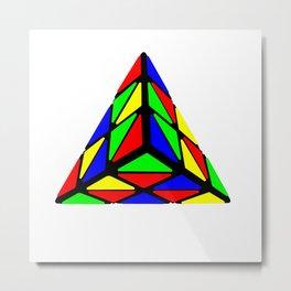 Pyraminx cude painting01 Metal Print