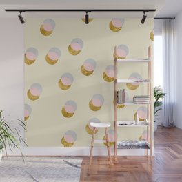 Gold and Pastel Wall Mural