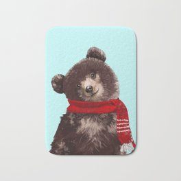 Baby bear in Christmas Mood Bath Mat