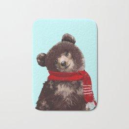 Baby bear in Christmas Mood Bath Mat