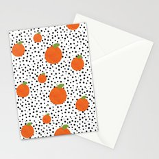 Polka Dot Oranges Stationery Cards