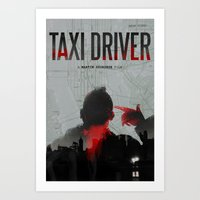 taxi driver Art Prints featuring Taxi Driver by FCRUZ