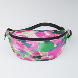 Abstract Flora Green Fanny Pack