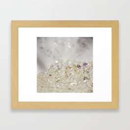 White Crystals Bokeh Framed Art Print