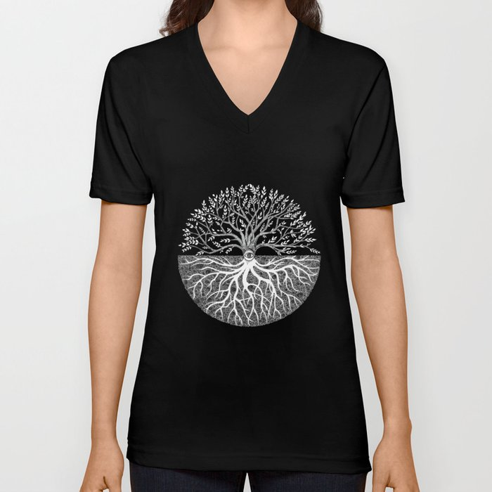 Druid Tree of Life Unisex V-Neck