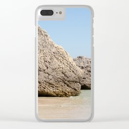 Rock from the beach of Arrabida, Setubal, Portugal. Clear iPhone Case