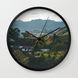 Hollywood Hills Wall Clock