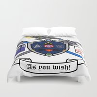 greek Duvet Covers featuring Greek Crest  by DavinciSMURF